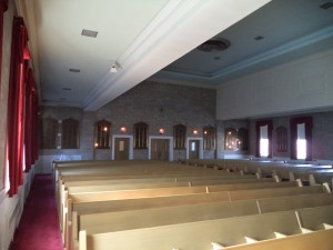 Interior before conversion